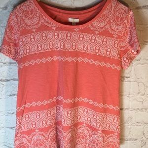 CHARMING CHARLIE CORAL XL TOP